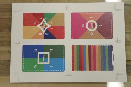ヨシの紙で作成した滋賀版SDGsボードゲームのカード